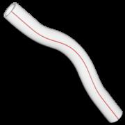 Обводка длинная из полипропилена. Цвет белый. Диаметр 32 мм.Соединение PPR-PPR. В упаковке 10 штук.