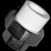 Муфта комб. разъемн. «Американка» (внутр.резьба). Цвет белый. Диаметры 32 мм. х 1 дюйм. Соединение PPR-FMET. В упаковке 12 штук.