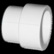 Муфта из полипропилена переходная. Цвет белый. Диаметры 40/32 мм.Соединение PPR-PPR. В упаковке 39 штук.