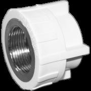 Муфта комб. (внутр.резьба). Цвет белый. Диаметры 40 мм. х 1.1/4 дюйма. Соединение PPR-FMET. В упаковке 8 штук.