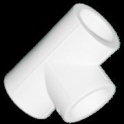 Тройник из полипропилена. Цвет белый. Диаметр 32 мм.Соединение PPR-PPR. В упаковке 24 штук.