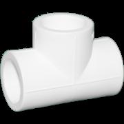 Тройник из полипропилена. Цвет белый. Диаметр 40 мм.Соединение PPR-PPR. В упаковке 13 штук.