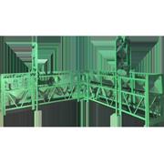 Аренда углового фасадного подъемника ZLP-800L Модель HAOKE 'Outcorner' 9 вариантов длины: (2,3,4) х (2,3,4) м. Грузоподъёмность 800 кг. Максимальная высота 100м. Напряжение 380 вольт. Указана цена по тарифу «Удачный».